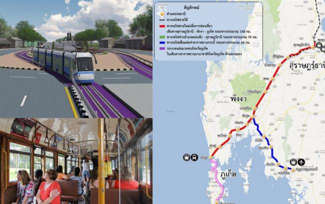 งานศึกษาและออกแบบทางรถไฟสายใหม่ เพื่อการท่องเที่ยวเส้นทาง จังหวัดสุราษฎร์ธานี - พังงา - ภูเก็ต